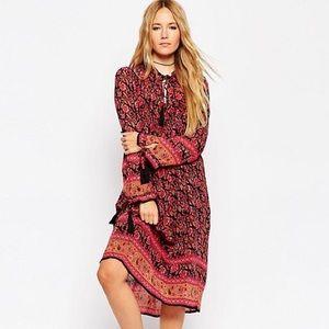 ASOS boho pleated dress